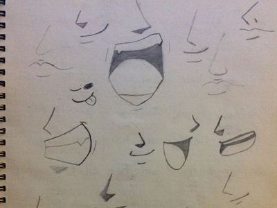 Sketching Some Mouths Today
