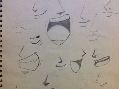 Sketching Some Mouths Today mouths drawing pencil sketch