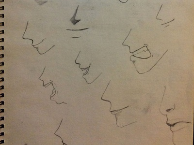 Sketching Some Mouths Today Part 2 mouths pencil drawing sketch