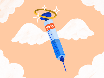 ~Vaccine from heaven~ portland texture illustration procreate 2021 help syringe health healthcare vaccinated coronavirus covid19 vaccine
