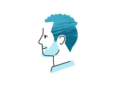 JB jacobs illustration family husband blue avatar profile design icon app texture icon