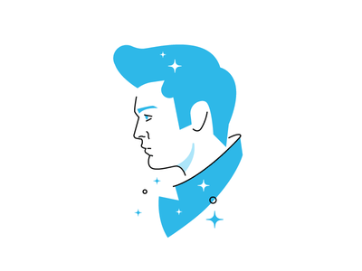 A Graceland kind of man brand illustration branding character design character avatar vintage magic blue elvis musician music spot illustraiton icondesign illustration icon elvis