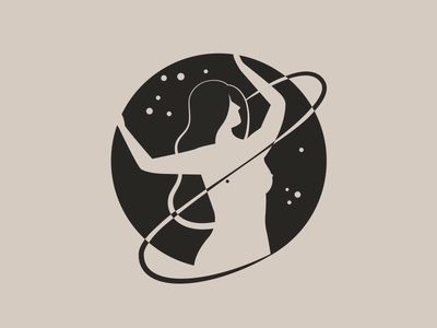 iNeedSpace.jpeg mother nature natural universe space identity logo movement body positivity pole fitness hair lady illustration