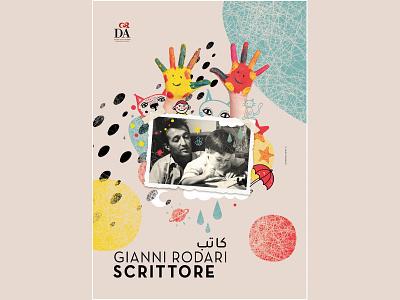 Gianni Rodari | Illustration | Poster ui design mixedmedia branding typography poster illustration graphic design collage