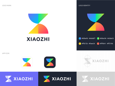Xiaozhi logo flat app branding logo icon ui