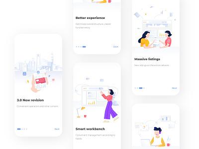 Guide pages branding website typography app design illustration ui