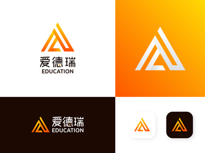 Aiderui logo flat branding icon logo design ui