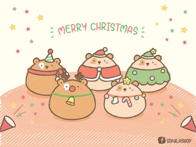 Merry Christmas 2020 character design merry xmas cute illustration