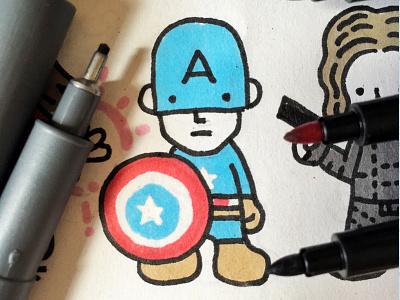 #teamcaptainamerica sketch