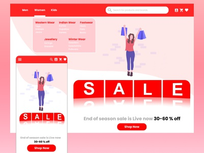 Shopping Website and App ecommerce app shopping cart shopping bag shopping app shopping clothing brand responsive design responsive clothing clothes ecommerce design ecommerce web figma branding app minimal design ui