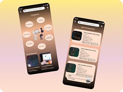 E-Learning App coursera course app courses course elearning elearning courses learning platform learning app learning ecommerce design ecommerce figma branding app minimal ui design