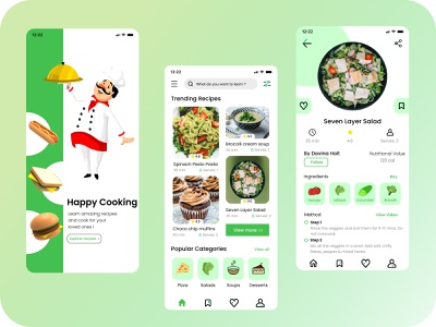 Recipe app recipes chef cook food design food delivery app recipe book recipe app recipe cooking food app food ecommerce design ecommerce app figma minimal ui design