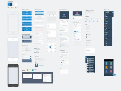 Salesforce1 Mobile Sketch Wireframe Kit salesforce mobile ui kit sketch system styleguide