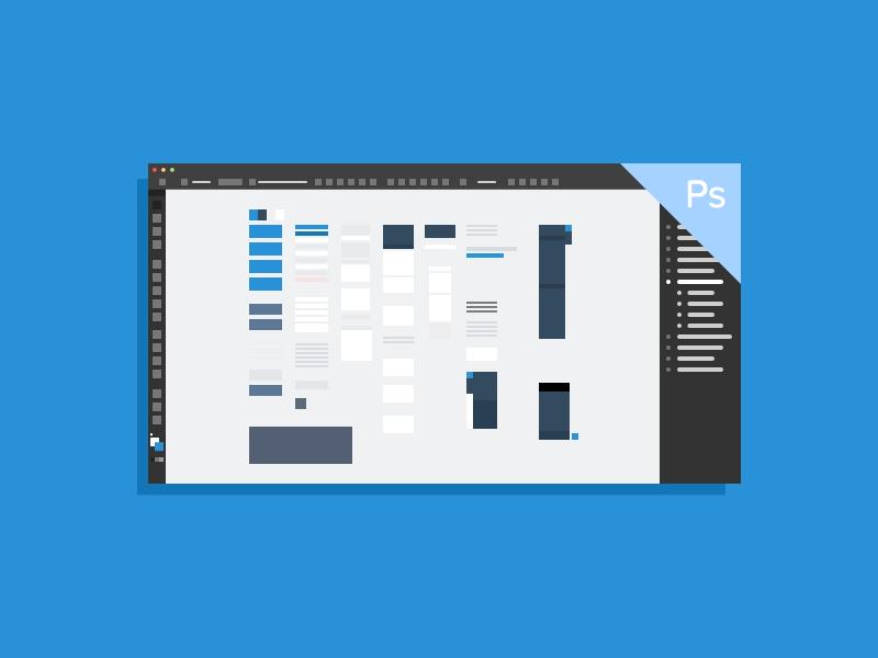 UI Kit Thumbails ui kits thumbnails flat illustration wireframe psd ai sketch keynote photoshop