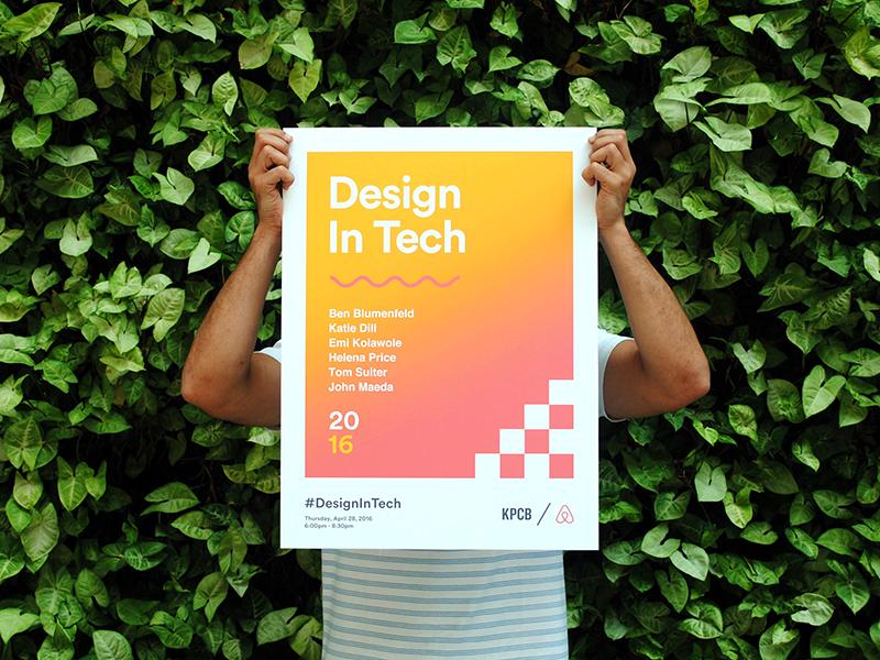 John Maeda's Design in Tech Report 2016 Poster airbnb branding event poster maeda john