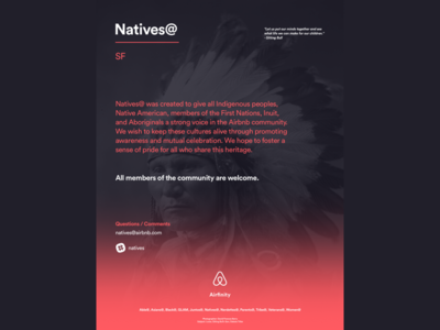 Natives@ Diversity Group Poster