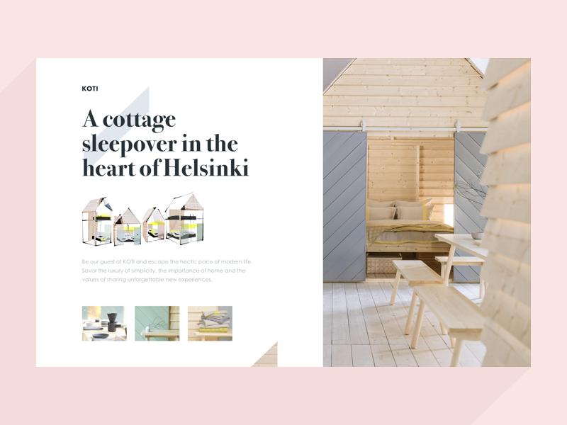 KOTI photography decor home cabin logging flat modern helsinki koti marketing webpage