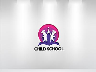 Child School Logo minimalist logo unique logo modern logo illustration flat illustrator vector design business logo 3d branding logo graphic design
