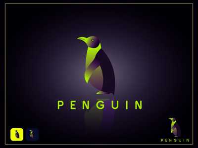 Penguins Word Logo animation motion graphics 3d graphic design ux ui illustration flat illustrator vector logo design business logo branding