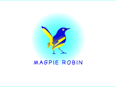 Magpie Robin Shot logo design logo maker logo creation brand indentity brand designer designer ux ui illustration illustrator flat vector design logo business logo branding
