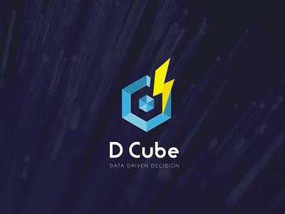 D Cube Energy Logo 3d graphic design ux ui illustration illustrator flat vector logo design business logo branding