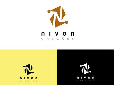 NIVON CHICKEN HOUSE LOGO ui ux illustration illustrator flat vector logo design business logo branding