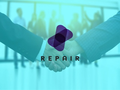 Repair Company Logo & Branding ux ui illustration flat illustrator vector logo design business logo branding