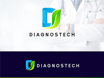 Diagnostech Logo Design ui ux illustration illustrator flat vector logo design business logo branding