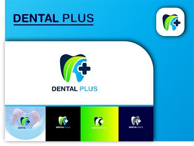 Dental Plus Logo Design & Branding 3d motion graphics graphic design ui ux illustration illustrator flat logo vector design business logo branding