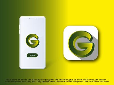 G letter Logo Design ui ux illustration illustrator flat logo vector design business logo branding