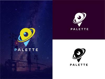 Palette Location Logo Design ui ux illustration flat illustrator vector logo design business logo branding