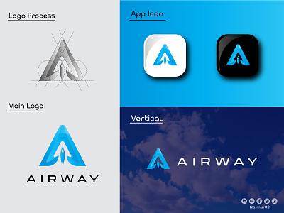 A letter Logo Design & Branding motion graphics graphic design 3d animation ui ux illustration illustrator flat vector logo design business logo branding