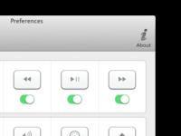 Setting buttons in menubar