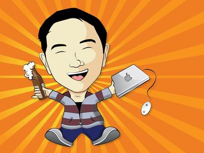 Cartoon Me asian illustration illustrator cartoon caricature happy colorful vector