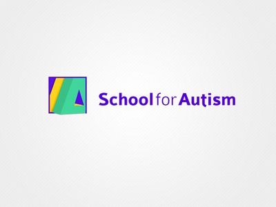 School for Autism school autism non-profit logo debut wip