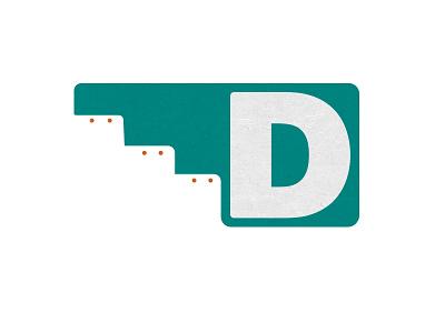 D Up southwest typography d pueblo mark brand