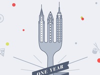One Year of Food in NYC
