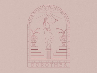 Dorothea Illustration goddess greek mythology vase greek god greece greek badge design branding illustration