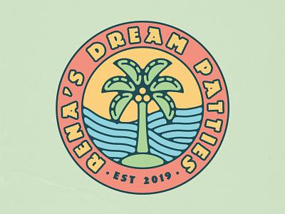 Rena's Dream Patties Branding, 2021 long island brand identity logo badge design branding food industry food tropical caribbean jamaica jamaican patty patties