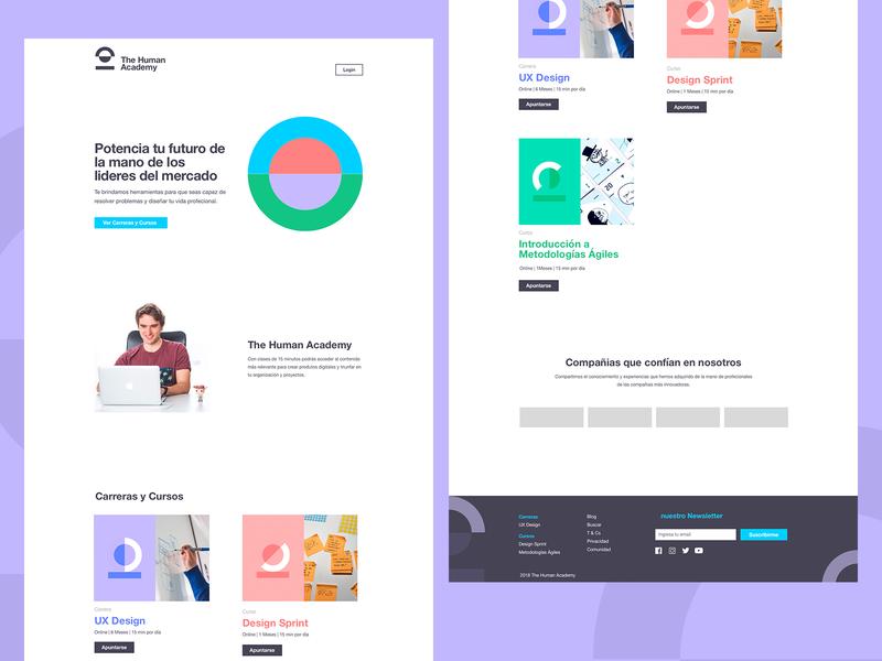 The Human Academy: Landing Page identity web landing page interface ui ux branding design ui