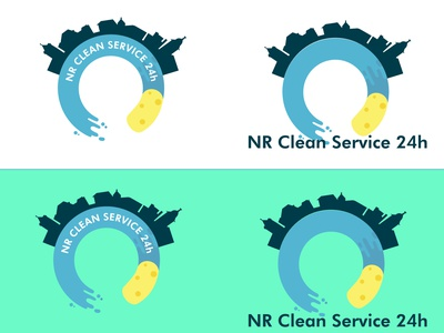 Cleaning branding logo illustration design