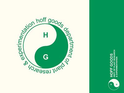 Hoff Goods Department of Plant Research design retro plants ying yang branding hoff goods