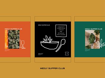 Medly Supper Club Social Content illustration cannabis instagram social content content creation branding