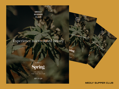 Medly Supper Club Flyers luxury cannabis advertising branding print poster