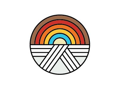 Dojo Rainbow Logo Concept belt rainbow logo martial arts karate dojo