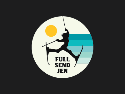 Full Send Jen Sticker Design