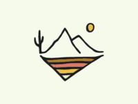 Desert Landscape Sketchbook Piece