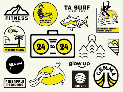 Recent Logo Wrap Up nevada badge icon logo mark grid logo grid branding logos