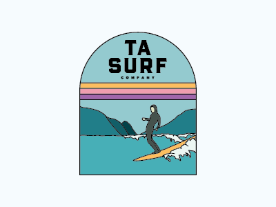 TA SURF CO Logo