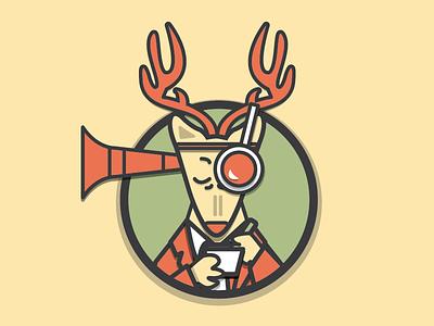 Observation Deer  illustration vector deer animal mindfullness